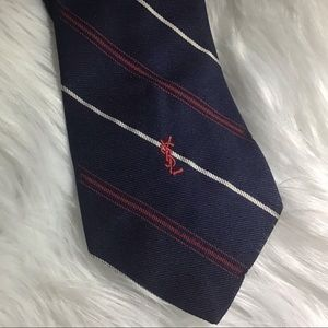 Vintage Yves Saint Laurent Blue Striped Tie